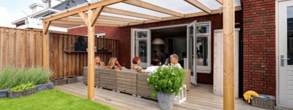 Houten actie veranda's
