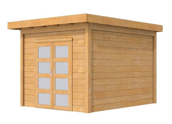 KORTING!! Woodvision Douglas Tuinhuis Topvision Roek Blank 303x303 cm
