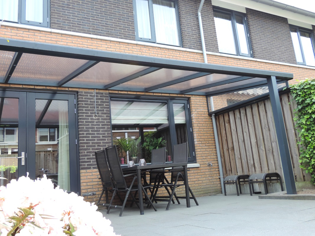 Terrasoverkapping GREENLINE 300x300cm Wit of Antraciet