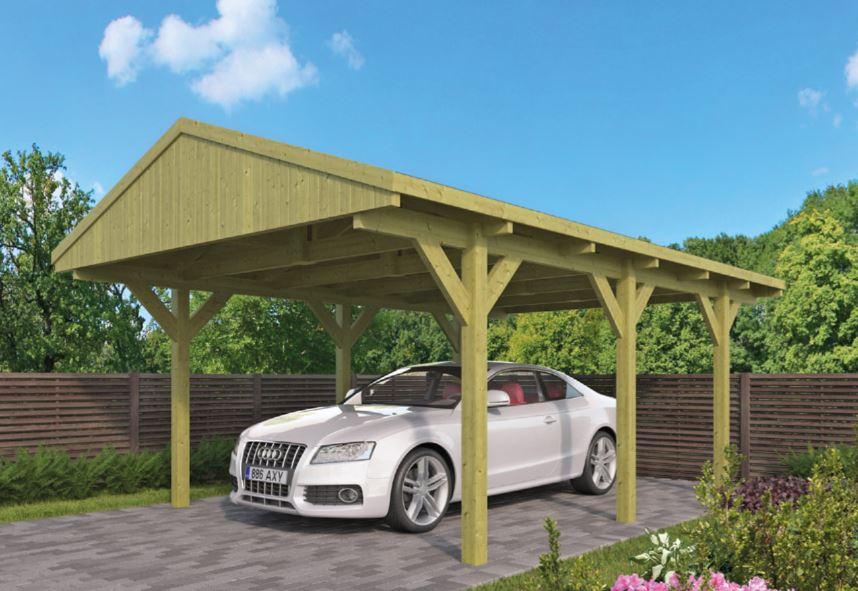 Carport met zadeldak 400x600 cm