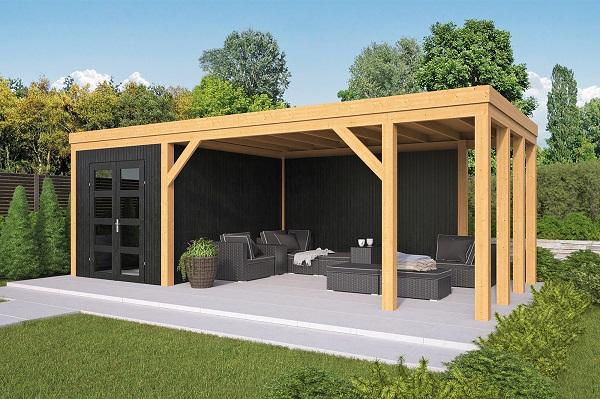DHZ Plat dak Vriezenveen 750x355 cm - zwarte wanden