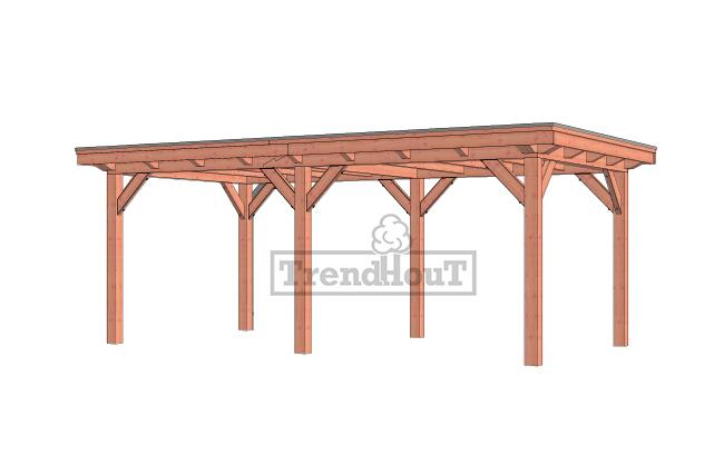 Buitenverblijf Florence 650x360 cm - Plat dak