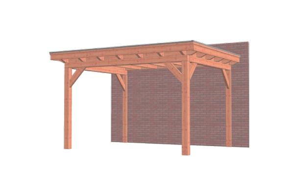 Aanbouwveranda Lucca 435x325 cm - Plat dak