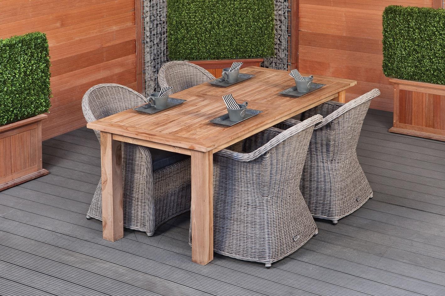 MEGASTUNT! Teak dinner tafel Modern 250   Tafel L250xB100xH80 cm
