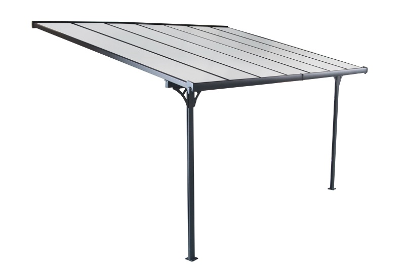 Livingdream veranda 436x305 cm - antraciet - polycarbonaat dak