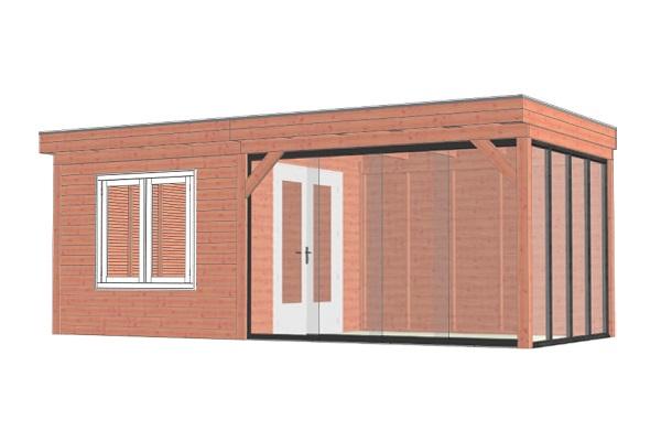 Buitenverblijf Casa 660x330 cm - Combinatie 1