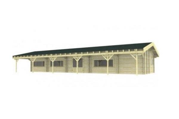 Clubgebouw 2040x640 cm + luifel 300 cm 70mm