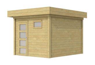 Blokhut Tapuit 300x300 cm - geïmpregneerd