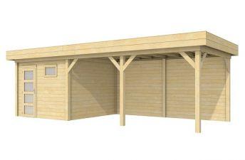 Moderne Blokhut Tapuit 300x300 cm + luifel 500 cm