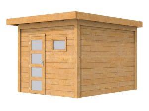 Woodvision Douglas Tuinhuis Raaf Blank 302,5x302,5 cm