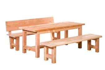 Douglas compleet meubelset tafel + 2 banken