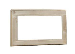 Vast raam blank glas 72x45 cm - Groen geïmpregneerd