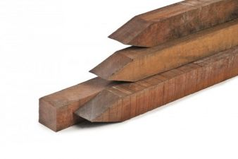 Azobé palen fijnbezaagd 7x7x275 cm