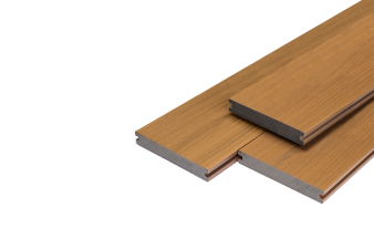 Vlonderplank Supreme massief composiet 2x14x400 cm - Teak