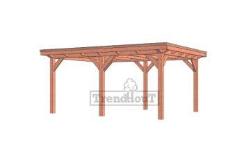 Buitenverblijf Florence 545x425 cm - Plat dak