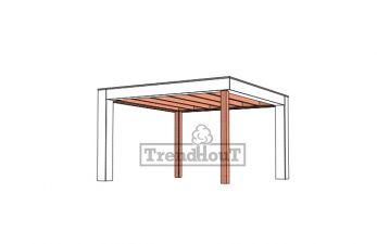 Buitenverblijf Verona 400x400 cm - Plat dak model links