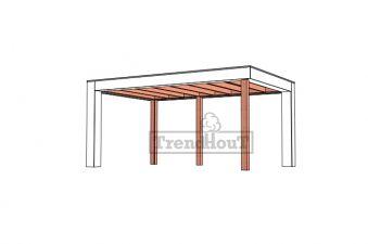 Buitenverblijf Verona 510x335 cm - Plat dak model links