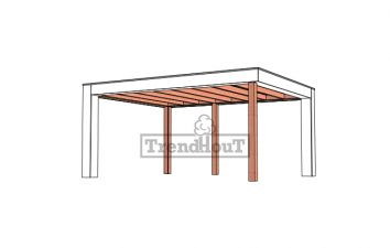 Buitenverblijf Verona 510x400 cm - Plat dak model links