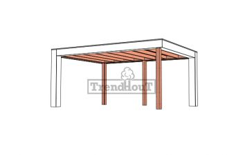 Buitenverblijf Verona 520x400 cm - Plat dak model links