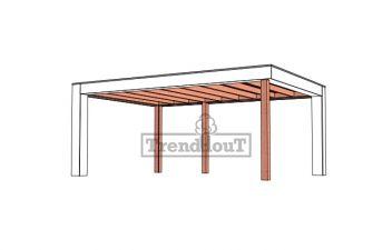 Buitenverblijf Verona 575x400 cm - Plat dak model links