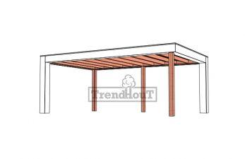 Buitenverblijf Verona 625x400 cm - Plat dak model links