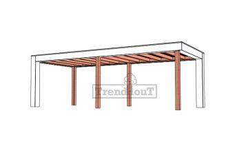 Buitenverblijf Verona 750x335 cm - Plat dak model links