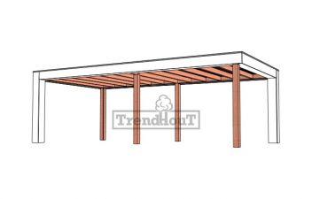 Buitenverblijf Verona 750x400 cm - Plat dak model links