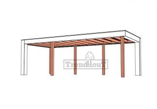 Buitenverblijf Verona 755x335 cm - Plat dak model links