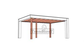 Buitenverblijf Verona 520x400 cm - Plat dak model rechts