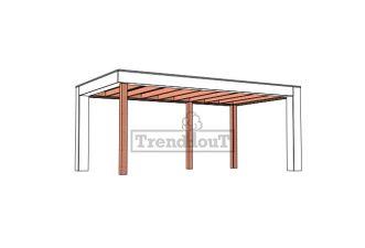 Buitenverblijf Verona 575x335 cm - Plat dak model rechts