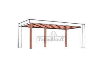 Buitenverblijf Verona 625x335 cm - Plat dak model rechts