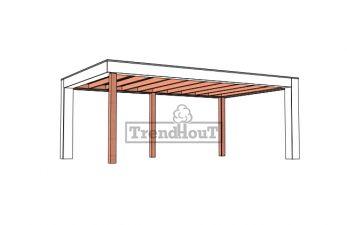 Buitenverblijf Verona 625x400 cm - Plat dak model rechts