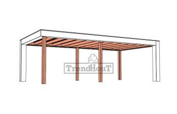 Buitenverblijf Verona 750x400 cm - Plat dak model rechts