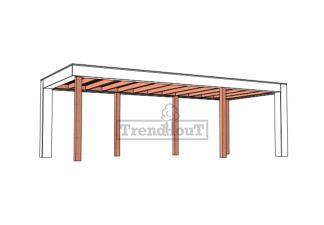 Buitenverblijf Verona 755x335 cm - Plat dak model rechts