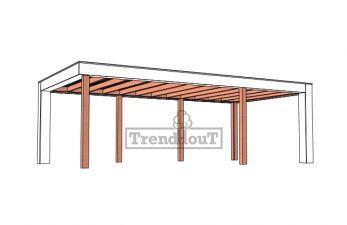 Buitenverblijf Verona 755x400 cm - Plat dak model rechts