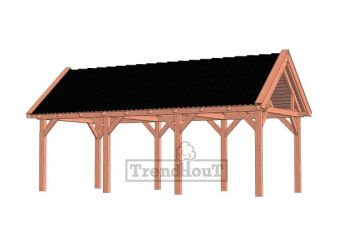 Trendhout buitenverblijf zadeldak XL 415x380 cm - basis