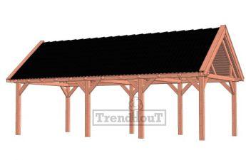Trendhout buitenverblijf zadeldak XL 926x380 - basis