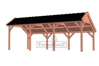 Trendhout kapschuur de Deel 750x340 cm - basis