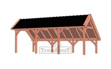 Trendhout kapschuur de Hoeve XL 765x380 cm - basis