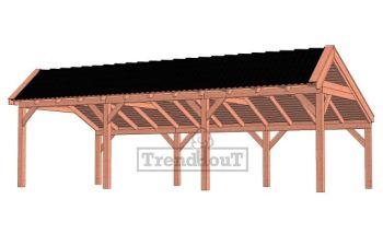 Trendhout kapschuur de Stee 900x425 cm - basis