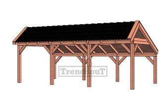 Trendhout kapschuur de Stee 740x425 cm - basis