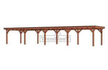 Buitenverblijf Florence 14800x425 cm - Plat dak