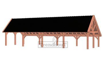 Trendhout kapschuur de Hofstee XXL 1505x595 cm - basis