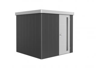 Biohort metalen berging Neo 2B met enkele deur Donkergrijs/ zilver metallic
