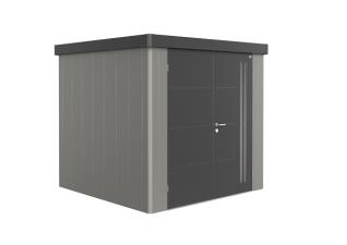 Biohort metalen berging eo 2B 236x236 cm met dubbele deur Kwartsgrijs. donkergrijs