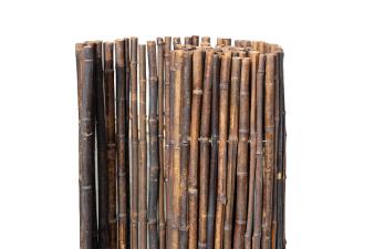 Bamboerol zwart - H180xL180 cm