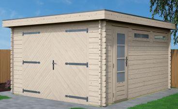 Actie garage Platdak 370x470cm 28mm