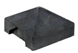 Afdekpet hoekafwerking antraciet voor rots-/leisteen-/houtmotief