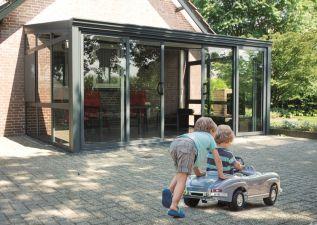 Tuinkamer aluminium 6x3.5 m