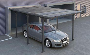 Metalen carport Andy B 313x502 cm antraciet